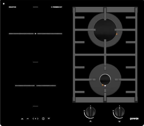 Каталог :: Бытовая техника :: Встроенная бытовая техника :: Комбинированные поверхности :: Gorenje GCI691BSC Black, Timer