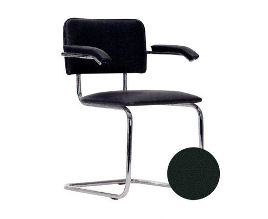 Krēsls NOWY STYL SYLWIA ARM V-4, melnas ādas imitācija