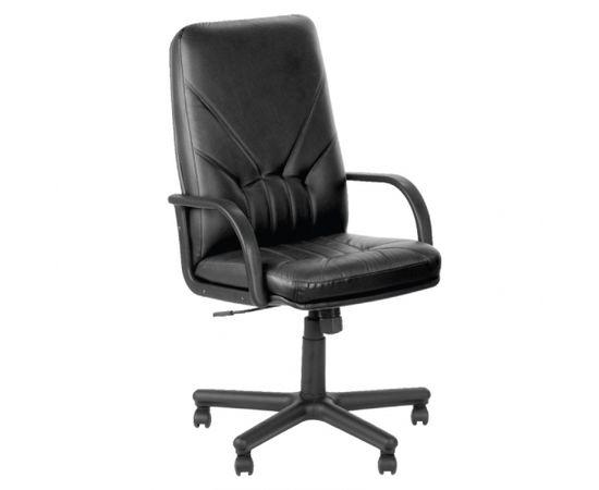 Nowy Styl Biroja krēsls MANAGER, melna āda