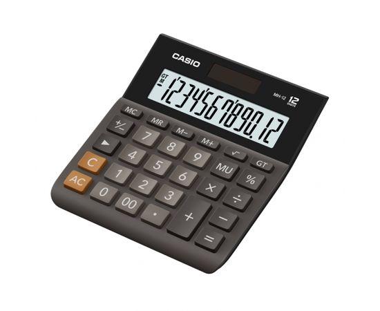Galda kalkulators CASIO MH-12, 127 x 137 x 29 mm, melns