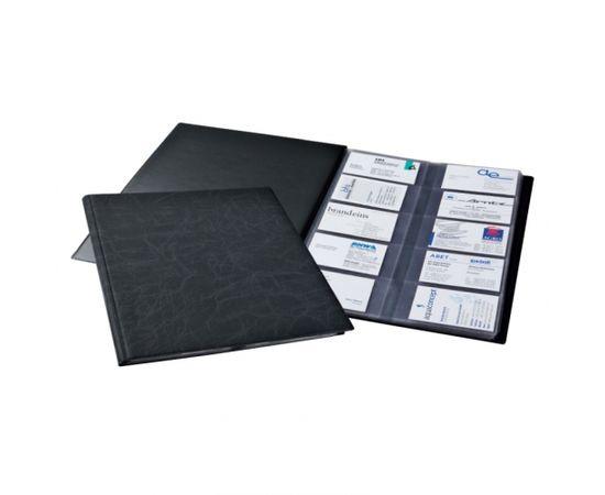 Vizītkaršu bloks DURABLE Visifix, 400 vizītkartēm, melns