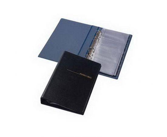 Panta Plast Vizītkaršu bloknots Pantaplast, 200 vizītkartēm, melns
