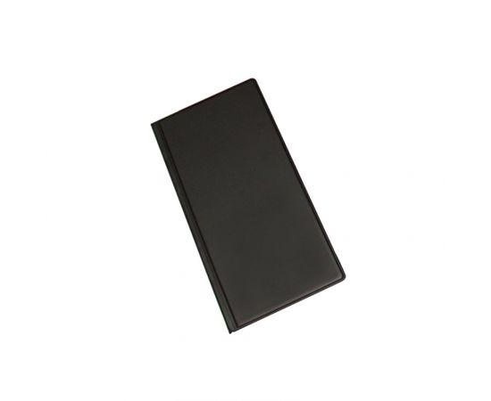 Panta Plast Vizītkaršu bloknots Pantaplast, 96 vizītkartēm, melns    24.5 cm x 12 cm