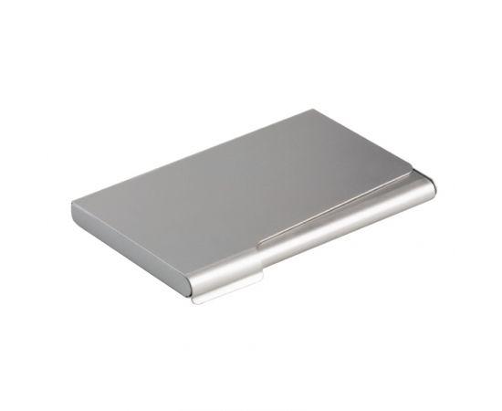 Vizītkaršu kastīte DURABLE, metāliski sudrabaina krāsa