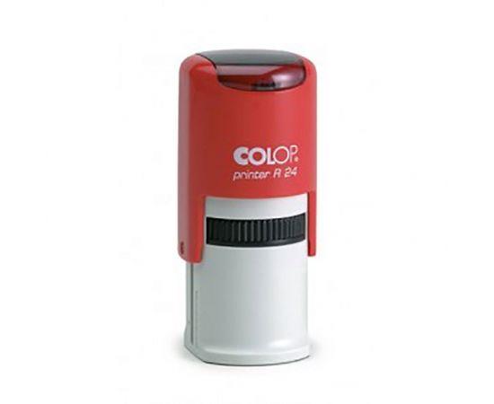 Zīmogs COLOP Printer R24, sarkans korpuss, bez krāsas spilventiņš
