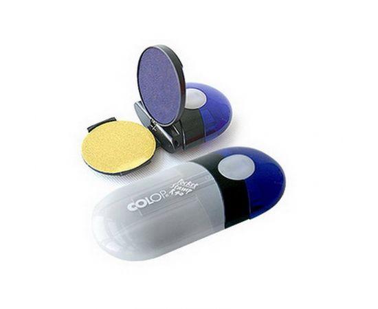 Zīmogs COLOP Pocket Stamp R40 indigo zils korpuss, zils spilventiņš