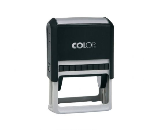 Zīmogs COLOP Printer 25, melns korpuss, zils spilventiņš