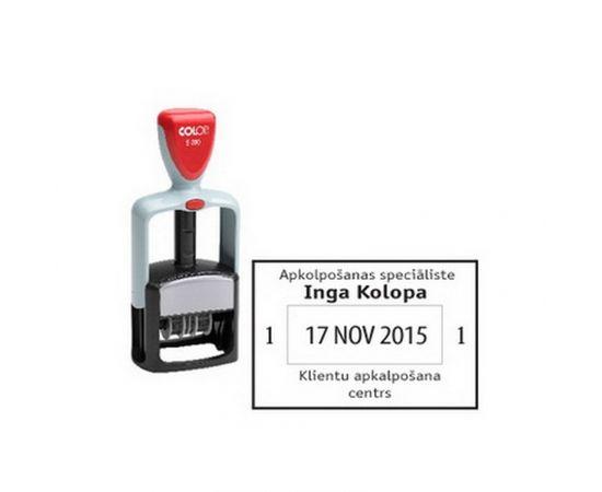Zīmogs COLOP datumu numerators S360 D16 (ISO standarts YYYY-MM-DD), zils spilventiņš
