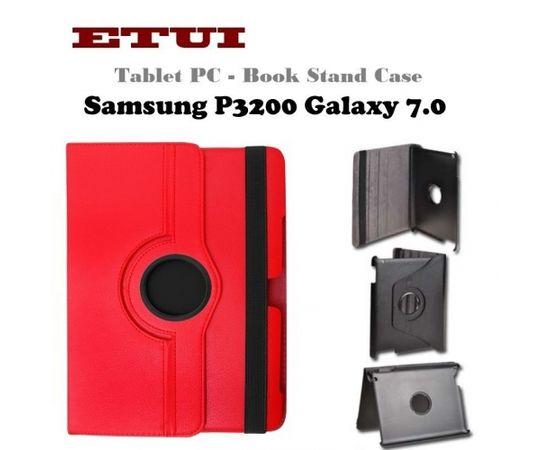 Etui Эко кожанный чехол с вращающемся стендом Samsung P3200 Galaxy 7.0 Красный