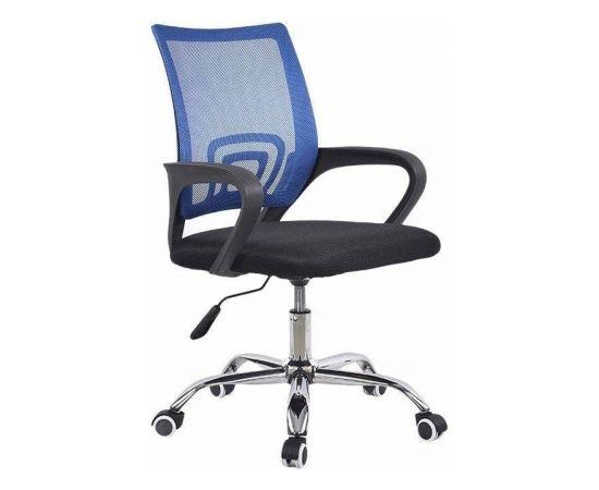 Grozāms biroja krēsls VANGALOO, melns ar zilu muguru