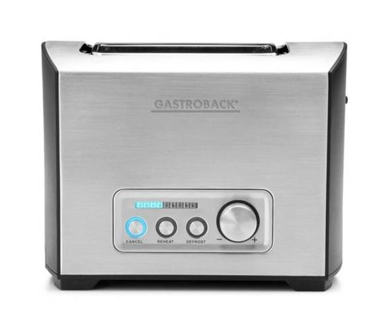 Gastroback Toaster PRO 2S 42397  Stainless Steel/ black, Stainless steel, 950 W, Number of slots 2, Number of power levels 9, Bun warmer included