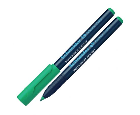 Noturīgais marķieris SCHNEIDER Maxx 240 konisks 1-2 mm, zaļš