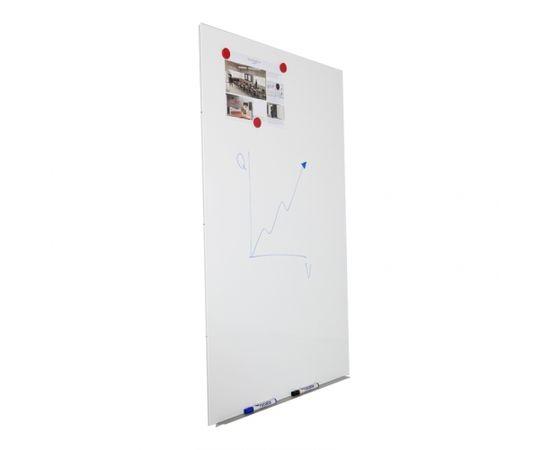 Magnētiskā tāfele ROCADA Skin Pro, 75 x 115 cm, baltā krāsa