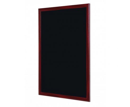 Sienas krīta tāfele ROCADA ķiršu krāsas rāmī, 120 x 90 cm, melna virsma (BS0722)