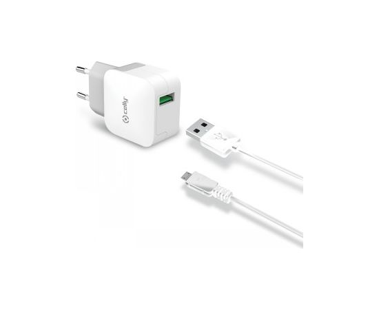 CELLY TRAVEL CHARGER TURBO + USBMICRO CABLE