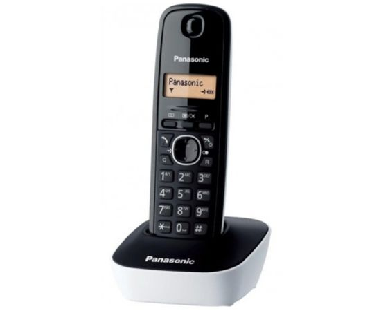 Panasonic Cordless KX-TG1611FXW Black/White, Caller ID, Phonebook capacity 50 entries, Built-in display, Wireless connection,