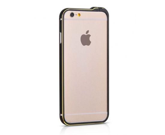 Apple iPhone 6  Metal Bumper HI-T026 black HOCO (Ir veikalā)