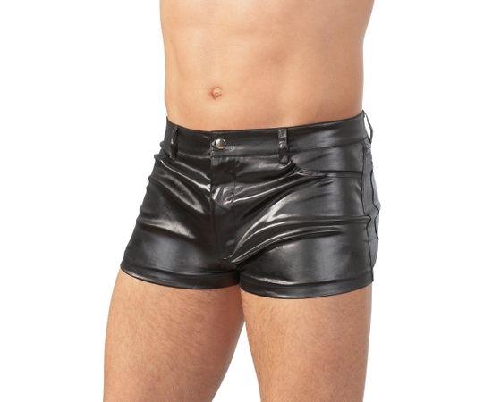 Svenjoyment melni, metāliska spīduma bokseršorti ar kabatām [ L ]