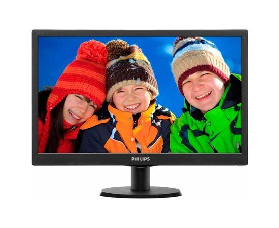 """Philips 193V5LSB2/10 18.5 """", HD ready, 1366 x 768 pixels, 16:9, LED, 5 ms, 200 cd/m², Black"""