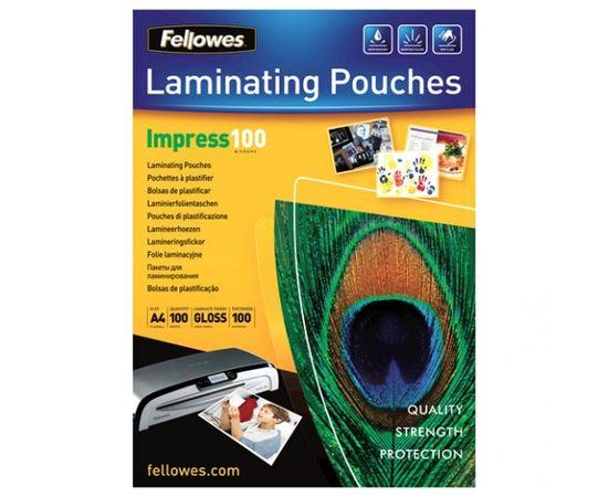 Fellowes Impress 100mic A4 Lam Pouch 100pk
