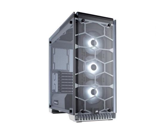 PC case Corsair Crystal Series 570X RGB ATX Mid-Tower, Tempered Glass, White