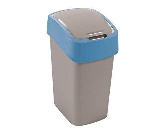 Curver Atkritumu spainis Flip Bin 10L sudraba/zils