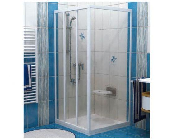Ravak Shower fixed wall APSS-90 white+glass Grape