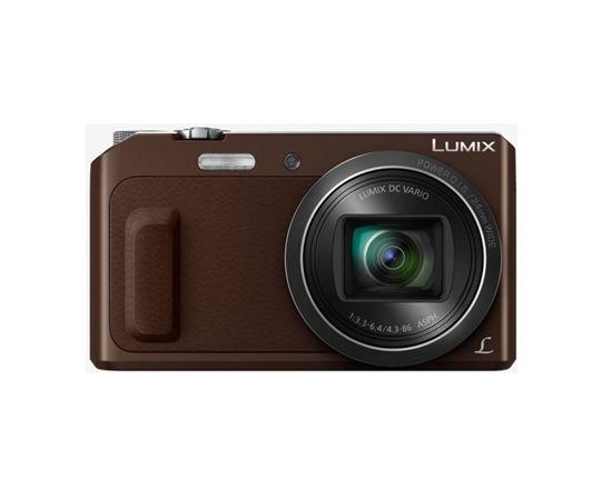 "Panasonic DMC-TZ57EP-T Compact camera, 16 MP, Optical zoom 20 x, Digital zoom 4 x, Image stabilizer, ISO 6400, Display diagonal 3.0 "", Wi-Fi, Focus 0.03m - ∞, Video recording, Lithium-Ion (Li-Ion), Brown"