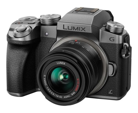 Panasonic Lumix DMC-G7 + 14-42mm komplekts, sudrabots