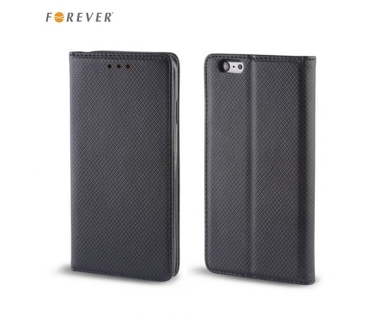Forever Magnēstikas Fiksācijas Sāniski atverams maks bez klipša Samsung i9500 Galaxy S4 Melns