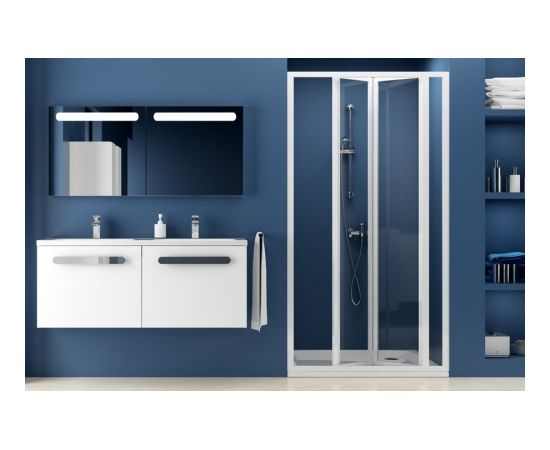 Ravak SDZ3-80 white+glass Transparent Shower door
