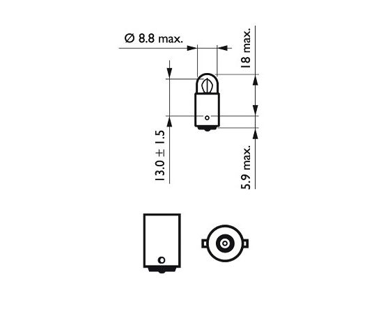 Philips Signāla spuldze 12913CP