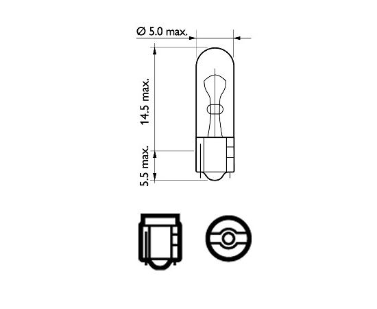 Philips Salona apgaismojuma spuldze 12521CP