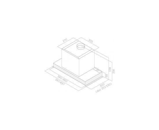 Elica GLASS OUT IX/A/60 tvaika nosūcējs, iebūvējams