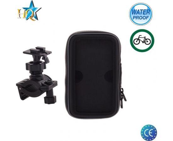 HQ B-03 Universal (14.5x7.5cm) Velo stūres telefona / navigācijas ūdensdrošs stiprinājums ar maciņu