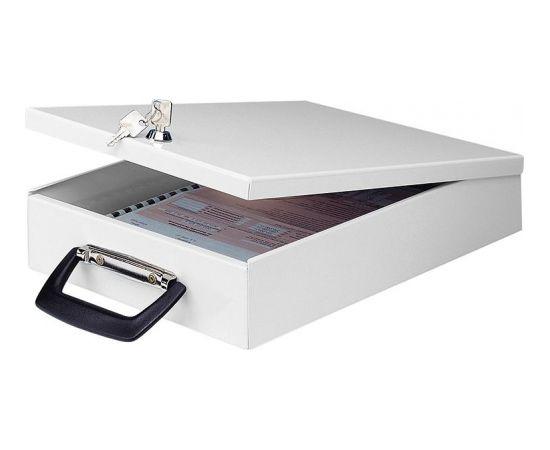 Slēdzama kaste dokumentiem WEDO ar rokturi 35,5 x 26 x 6,7 cm, ar slēdzeni