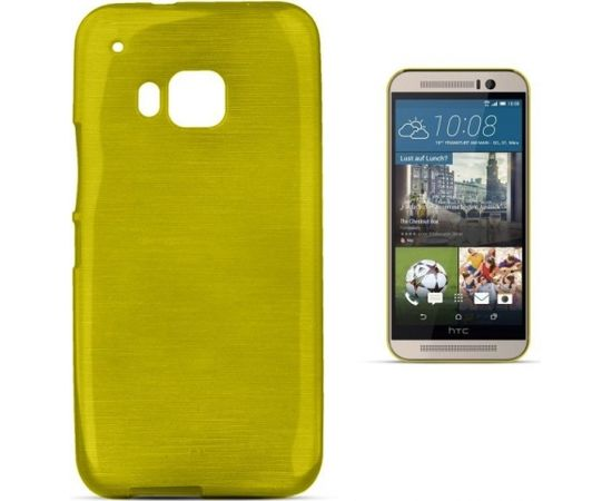Forcell Jelly Brush Perlamutra telefona silikona apvalks HTC One M9 Zaļš