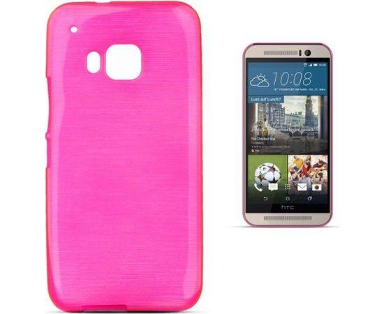 Forcell Jelly Brush Перламутровый Силиконовы Чехол HTC One M9 Розовый