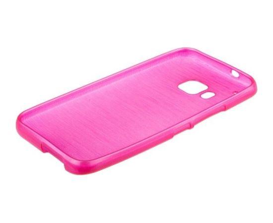 Forcell Jelly Brush Perlamutra telefona silikona apvalks HTC One M9 Rozā