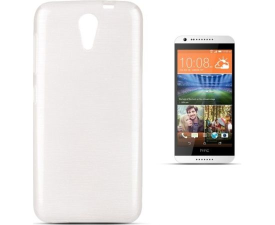 Forcell Jelly Brush Perlamutra telefona silikona apvalks HTC Desire 620 Balts