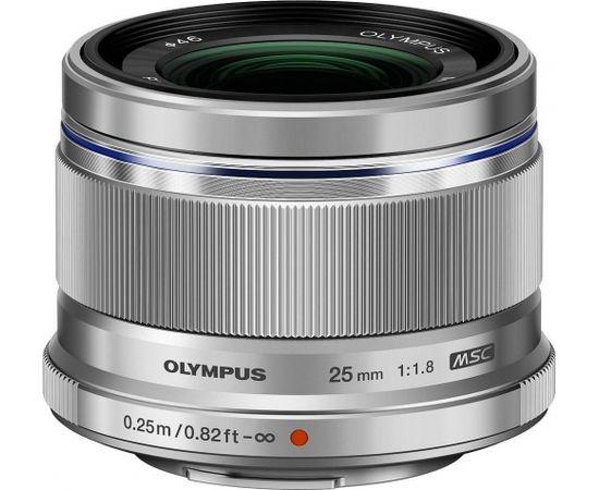 Olympus M.Zuiko Digital ED 25 мм f/1.8 объектив, серебристый