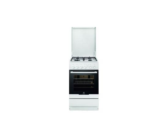 ELECTROLUX EKG51152OW gāzes plīts 50cm gāzes cepeškrāsns, balta