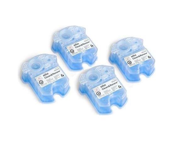 BRAUN Refills 4 Pack CCR3+1 maināmas kasetnes ar tīrīšanas šķidrumu skuvekļiem Clean&Renew