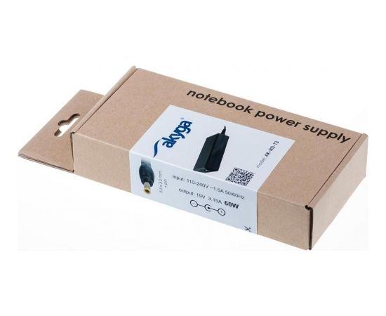 Akyga notebook power adapter AK-ND-13 19V/3.16A 60W 5.5x3.0 mm + pin SAMSUNG