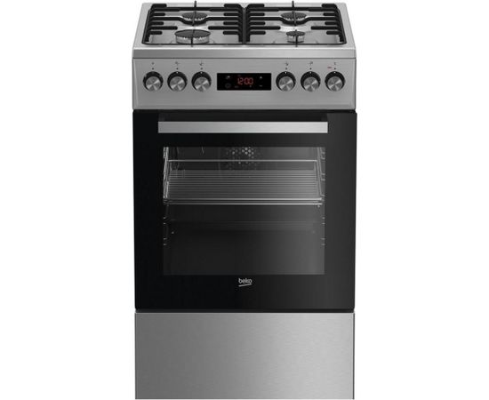 Gas electric-cooker Beko FSE52320DXD | 50cm