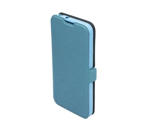Telone Super plāns sāniski atverams maciņš ar stendu Samsung i9500 Galaxy S4 Zils