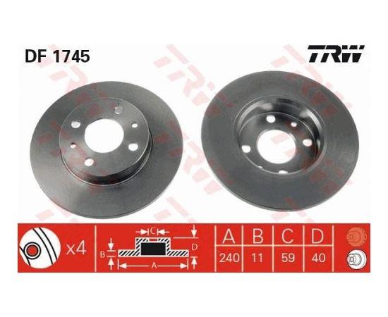 TRW Bremžu disks DF1745