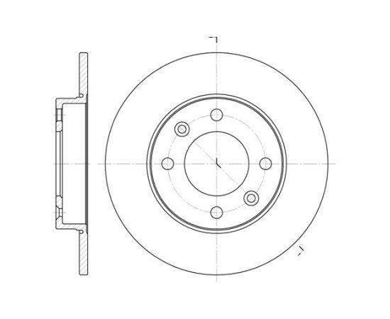 Remsa Bremžu disks 6630.00