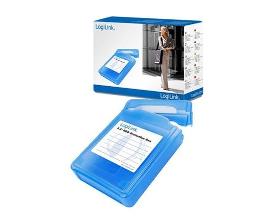 """3,5"""" HDD protection box for 1 HDD, blue Logilink"""