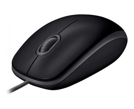 Logitech® B110 Silent BLACK - EMEA - USB